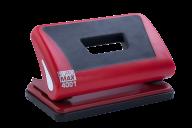 #$Дырокол пластиковый с резиновой вставкой, 10л., красный