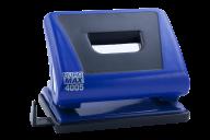 #$Дырокол пластиковый с резиновой вставкой, 15л., синий