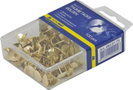 #Кнопки  золотистые, 100 шт., пласт. контейнер
