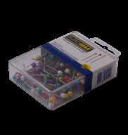Шпильки цветные, 34 мм, 200 шт. в пласт. коробке
