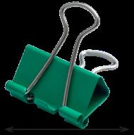 #@$Биндер-зажим, 25 мм, зеленый, по 12 шт. в тубе