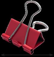 #@$Биндер-зажим, 25 мм, красный, по 12 шт. в тубе