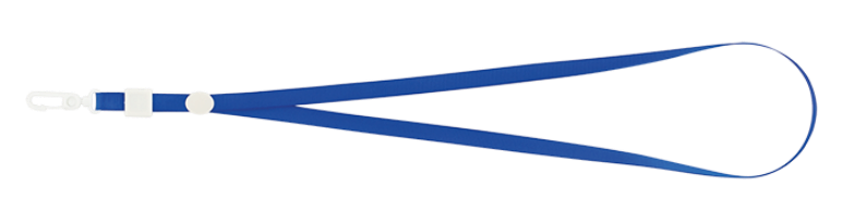 Шнурок с карабином, синий