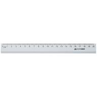 Линейка алюминиевая 20см, цвет: серебро