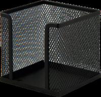 $Бокс для бумаги 100х100x100мм, металлический, черный