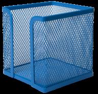 Бокс для бумаги 100х100x100мм, металлический, синий