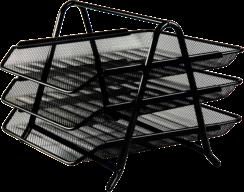 $Лоток горизонтальный 3 в 1, 350x295x270мм, металлический, черный