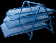 Лоток горизонтальный 3 в 1, 350x295x270мм, металлический, синий