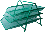 Лоток горизонтальный 3 в 1, 350x295x270мм, металлический, зеленый