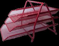 Лоток горизонтальный 3 в 1, 350x295x270мм, металлический, красный