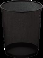 $Корзина для бумаг круглая 295x238x345мм, металлическая, черная