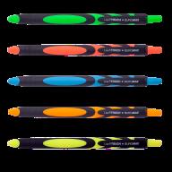 Ручка масляная автомат.LIVE TOUCH, RUBBER TOUCH, 0,7 мм, синие чернила