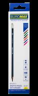 ^$Карандаш графитовый SILVER, треугольный НВ, ассорти, с ластиком, карт. коробка