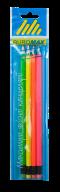 Карандаш графитовый NEON НВ, неоновый, с ластиком,  4шт./блистер