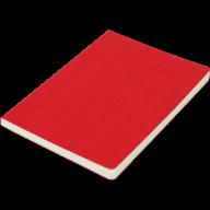 Блокнот деловой COLOR TUNES А5, 96л., чистый, обложка искусственная кожа, красный