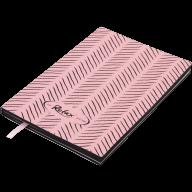 Блокнот деловой RELAX А5, 96л., чистый, обложка искусственная кожа, розовый