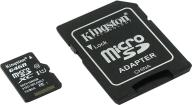 @/Карта памяти Kingston microSDCХ 64GB Class 10 + SD адаптер