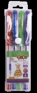 Набор из 4-х гелевых ручек GLITTER (с блестками), 4 цвета, KIDS Line