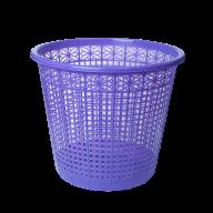 /Корзина для бумаг пластиковая, фиолетовая, 8л, KIDS Line