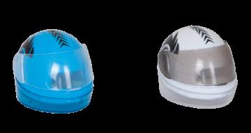 Точилка ШЛЕМ с контейнером, 2 отв., дисплей, ассорти