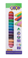 Пластилин 17 цветов (12 стандарт+5 неон), 272 г, KIDS Line