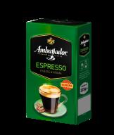 /Кофе молотый Ambassador Espresso, вак.уп. 225г*12 (PL)