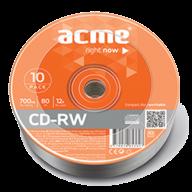 /Диск CD-RW, 700Mb, 4-12х, Cake (10)