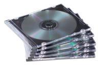 Коробка для CD-диска Slimline, металлик ассорти