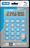 Калькулятор, 10 разр., DUO, голубой