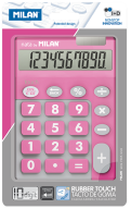 Калькулятор, 10 разр., DUO, розовый