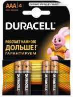 /(16085) Эл.питания (батарейка) DURACELL LR3 (АAA), 4шт/упак