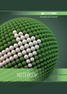 /Тетрадь для записей SPHERE, А4, 80 л., клетка, картонная обложка, зеленая