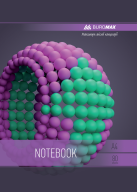 /Тетрадь для записей SPHERE, А4, 80 л., клетка, картонная обложка, фиолетовая