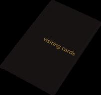 Визитница для 60 визиток, PVC, черная
