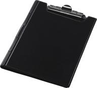 Клипборд-папка А4, винил, черный