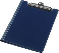 Клипборд-папка А4, винил, т.-синий