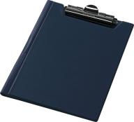 Клипборд-папка А4, PVC, т.-синий