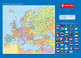 """Подкладка д/письма """"Карта Европы"""", 590x415мм, PVC"""