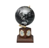 Глобус BLACK SILVER на дер.подст метеостанция