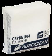 /Салфетки бумажные BuroClean, 240*240, 50шт., в п/п упак., белый