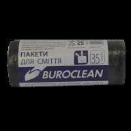/Пакеты для мусора 35л/30шт, черные BuroClean ECO