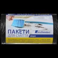 /Пакеты для мусора 60л/40шт, прочные, черные BuroClean EuroStandart