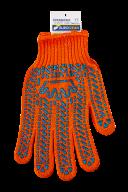 /Перчатки оранжевые с ПВХ точкой, 6 нитей, BuroClean EuroStandart