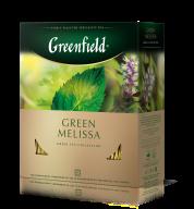 """/Чай зелёный 1,5г*100, пакет, """"Green Melissa"""", GREENFIELD"""