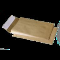 /Конверт В4 (250х353мм) коричневый СКЛ, с расширением 40мм по узкой стороне