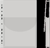 Файл для каталогов А4 глянцевый с клапаном, 170мкм