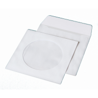 /Конверт для CD (124х124мм) белый НК с окном (термоупаковка)
