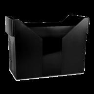Картотека для подвесных файлов, черная, пластик