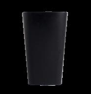 /Стакан пластиковый для письменных принадлежностей (для творчества), квадратный, черный (Р)