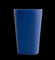 /Стакан пластиковый для письменных принадлежностей (для творчества), квадратный, синий (Р)
